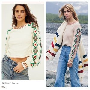 Free people gift of crochet top